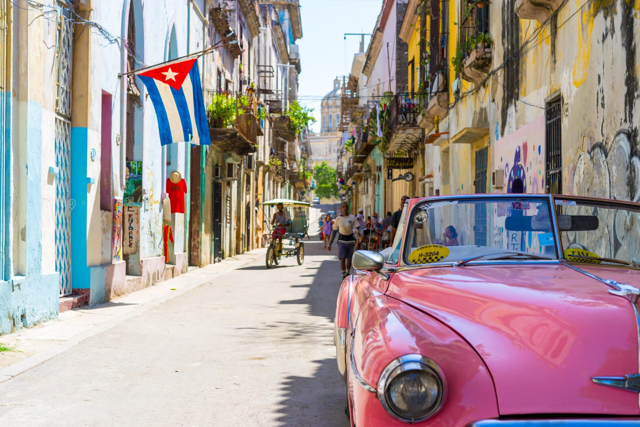 Cuba street red car
